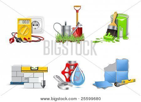 Renovation service. Icons | Bella series