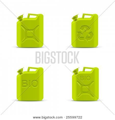 Eco fuel concept. Canisters