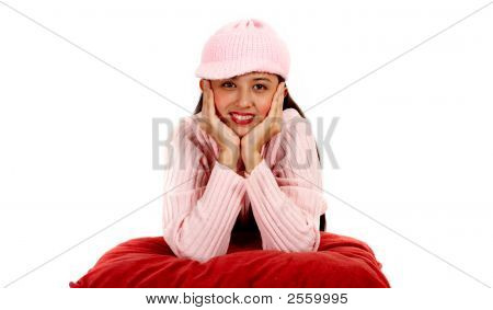 Girl Wearing A Winter