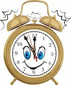 alarm clock - smiling clock face