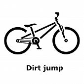 Dirt Jump Bike Icon. Simple Illustration Of Dirt Jump Bike Icon For Web poster