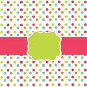 image of greeting card design  - Polka dot design - JPG