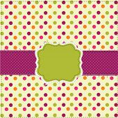 Polka dot patchwork design with frame
