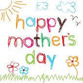 picture of hand drawn  - Bright hand drawn card for Mother - JPG