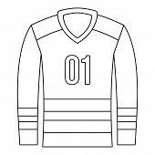 Sport Uniform Icon. Outline Illustration Of Sport Uniform Icon For Web poster
