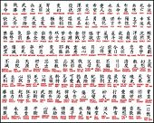 image of hieroglyphic symbol  - Japanese kanji  - JPG