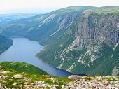 Hiking In Beautiful Gros Morne National Park Atop Gros Morne Mountain In Newfoundland And Labrador,  poster