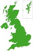image of cartographer  - Green map of the United Kingdom - JPG