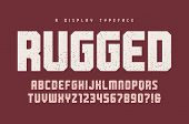 Rugged Vector Heavy Display Typeface, Font, Uppercase Letters An poster