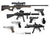 stock photo of sub-machine-gun  - Weapon collection - JPG