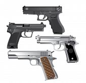 stock photo of handguns  - handgun - JPG