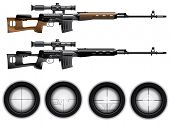stock photo of sniper  - Sniper rifle vector - JPG