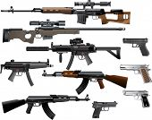 stock photo of assault-rifle  - Weapon collection - JPG