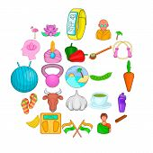 Spiritual Development Icons Set. Cartoon Set Of 25 Spiritual Development Vector Icons For Web Isolat poster