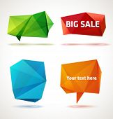 foto of crystal clear  - Vector trendy crystal shapes - JPG