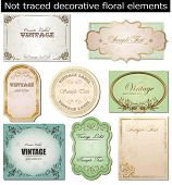 stock photo of art nouveau  - vector set - JPG
