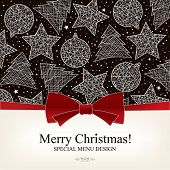 Vector. Special Christmas menu design