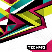 Designed abstract techno background. Vector illustration. poster