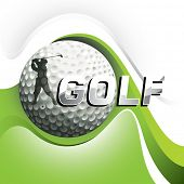 Designed golf background with stylized shapes. Vector illustration.
