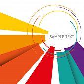 Постер, плакат: Иллюстрированный цветной макет с абстракции Векторные иллюстрации
