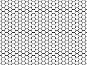 Hexagonal Cell Texture. Honey Hexagon Cells, Honeyed Comb Grid Texture And Honeycombs Fabric Seamles poster