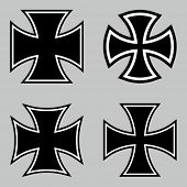 foto of maltese-cross  - Choppers crosses - JPG