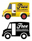 stock photo of delivery-truck  - Delivery truck - JPG