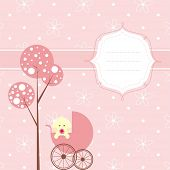 picture of dot pattern  - Baby girl banner - JPG