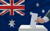 Man Voting On Elections In Australia