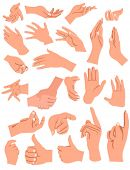 stock photo of hand gesture  - hands gestures - JPG