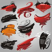 Halloween banners collection. (vector illustration)