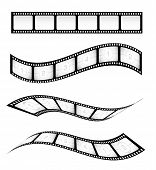 Various vector film strips for designs