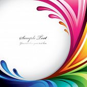 A splash of various colors - Background design for your text. Find more colorful illustrations in my