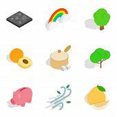 Life Vitality Icons Set. Isometric Set Of 9 Life Vitality Icons For Web Isolated On White Background poster