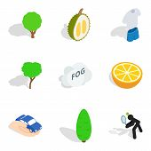 Vitality Food Icons Set. Isometric Set Of 9 Vitality Food Icons For Web Isolated On White Background poster
