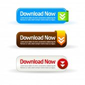 Simple modern download now button collection