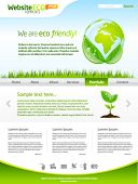 Green eco earth web template layout