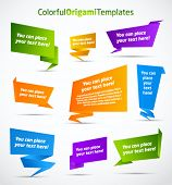 stock photo of close-up  - Colorful origami vector templates - JPG