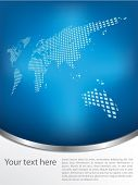 stock photo of brochure design  - Brochure design with earth map - JPG