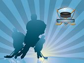 picture of ice hockey goal  - Hockey player silhouette - JPG