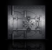 closed bank vault, 3D render