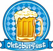 stock photo of stein  - Oktoberfest beer label - JPG