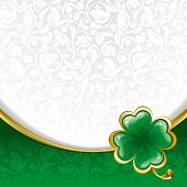 stock photo of st patrick  - Rich ornate background to St - JPG