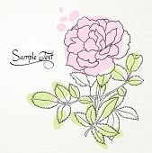 picture of hand drawn  - floral background - JPG