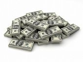 stock photo of money stack  - Millions dollars in a stack of  - JPG