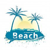 image of beach party  - Beach vector - JPG