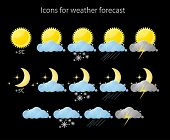 web icons for weather forecast