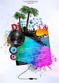 image of subwoofer  - Template colour background - JPG