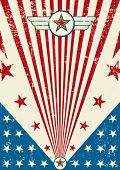 stock photo of arriere-plan  - Patriotic scratch poster - JPG