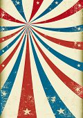US grunge tricolor circus A patriotic circus background for a poster